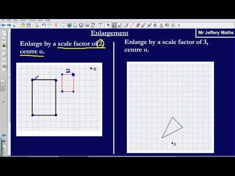 Enlargement by a scale factor (Edexcel GCSE Maths)