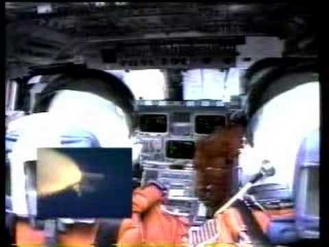 Shuttle launch from inside orbitor