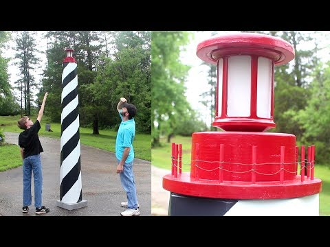 9 FOOT TALL Lighthouse Garden Decor // Woodworking How-To