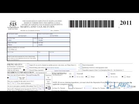 Form 515 Individual Income Tax Return Nonresident Local