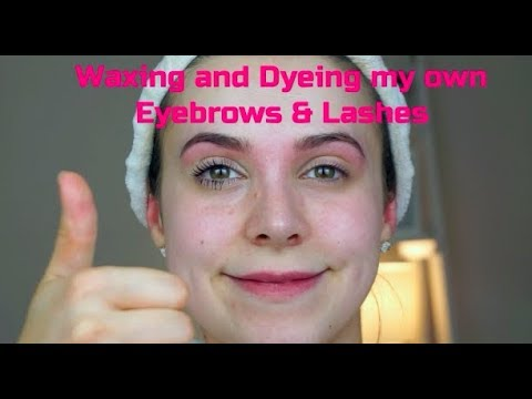 Waxing and Dyeing my Eyebrows and Lashes myself! | Tutorial | RachelGagie