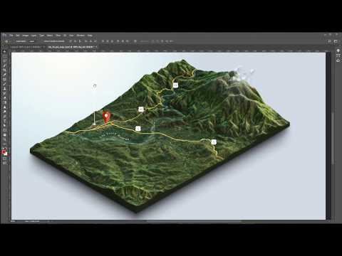 From Google Maps and heightmaps to 3D Terrain - 3D Map Generator Terrain - Photoshop
