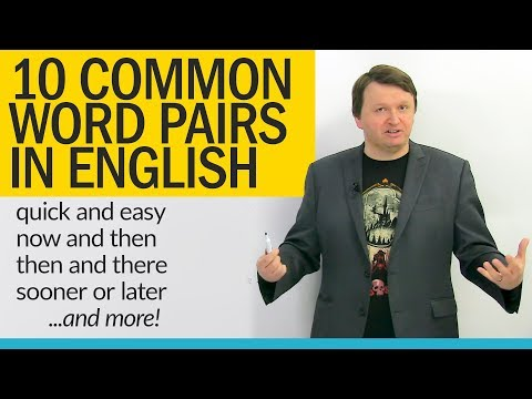 Improve your Vocabulary: English word pairs about TIME