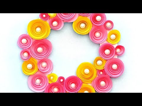 Christmas Paper Wreath - How to Make DIY Rolled Paper Roses Wreath | Easy Christmas Decorations