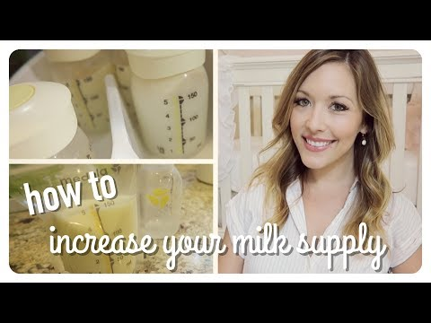 tips to increase your breast milk supply | easy + naturally