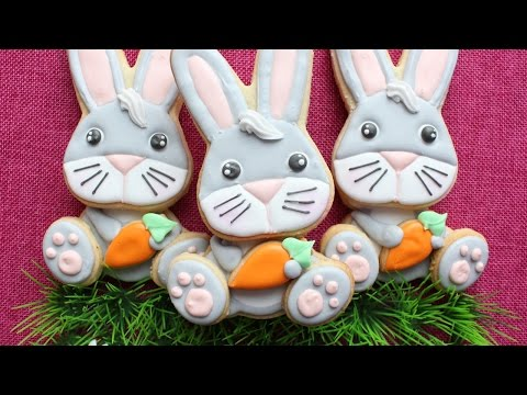 Easter Cookies - 3D Easter Bunny Cookies in Royal Icing by Montreal Confections