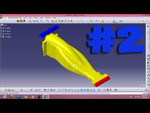 #2 color F1 or formula 1 Car Catia Design in simple way for beginners considering aerodynamic shape