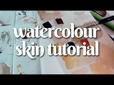 HOW TO PAINT SKIN WITH WATERCOLOR 🖌 Tutorial and Speedpaint!