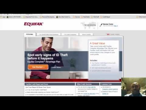 How To Check Your Equifax Credit Report 2014