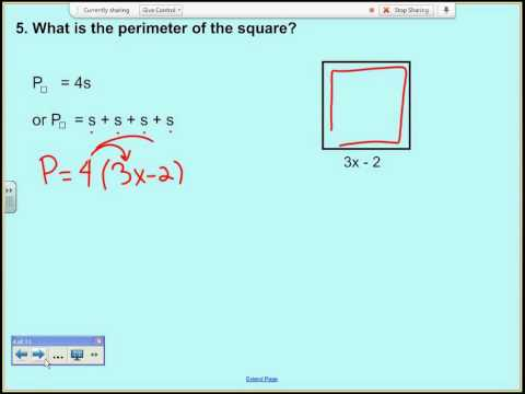 Unit 2 Day 3 - Finding Area and Perimeter with Polynomials