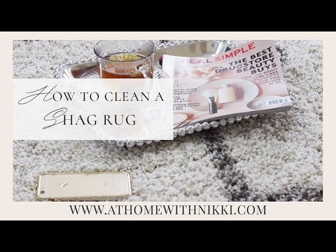 SPRING CLEANING QUICK TIP | How To Clean A Shag Rug