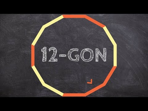 What is the measure of each exterior angle of a 12 gon