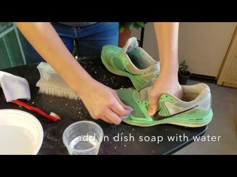 Simple Way to Clean Colorful Shoes