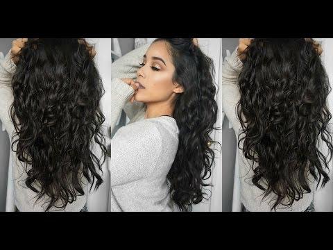 Super Easy HEATLESS Wavy Hair Tutorial