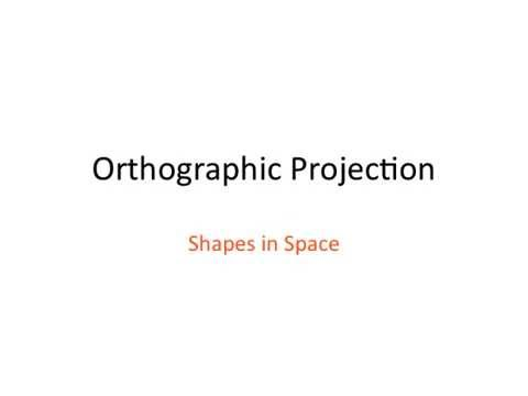 Shapes In Space PowerPoint | Orthographic Projection