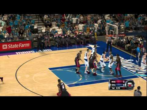 NBA 2K12 (PS3) Miami Heat vs Dallas Mavericks Demo Gameplay