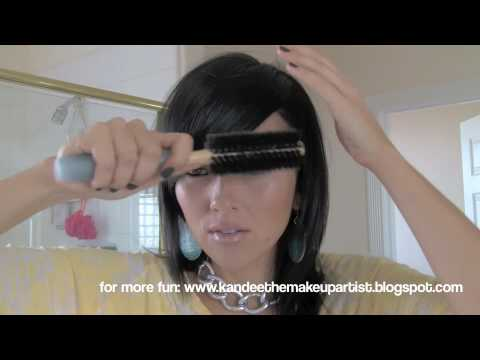 How to Style Side Swept Bangs or Fringe | Kandee Johnson