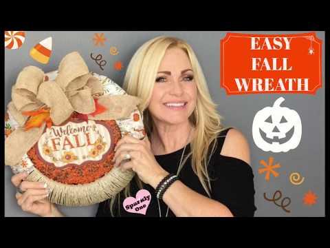 Fall Wreath 🍁 DIY for $5 - So Easy!!