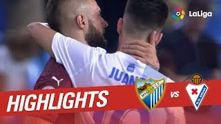 Resumen de Málaga CF vs SD Eibar (2-1)