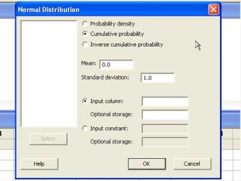 07 Computing Normal Probabilities in Minitab