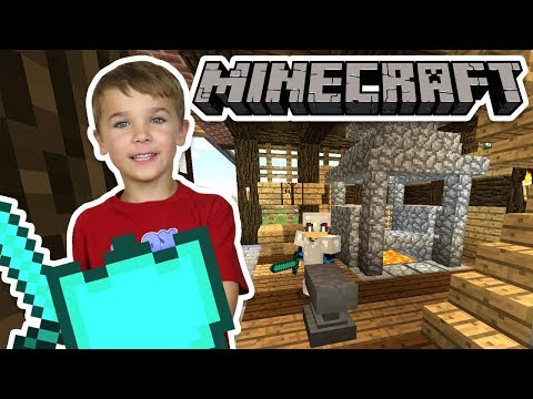 BUILDING A BLACKSMITH HOUSE in MINECRAFT SURVIVAL MODE