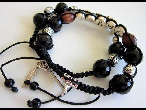 Male Shamballa Bracelet with name