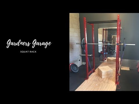 DIY squat rack for your home gym just like rogue squat rack