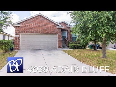 For Rent: 4038 Adair Bluff, San Antonio, Texas 78223