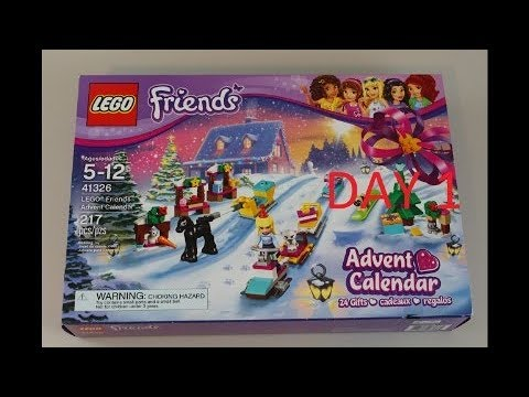 Lego Friends Advent Calendar 2017 Day 1 Unboxing 24 Gifts One Per