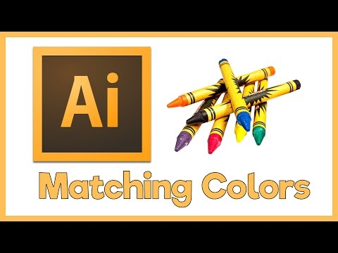 Adobe Illustrator CS5 Tutorial - How to Match Colors from Images Exactly - Creating Color Swatches