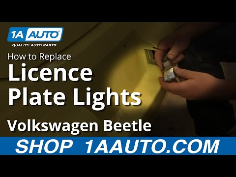 How To Install Replace License Plate Light 1998-10 VW Volkwagen Beetle