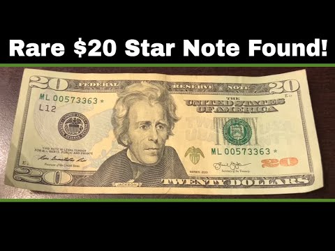 Searching $5,000 in Currency - Rare $20 Star Note Found!