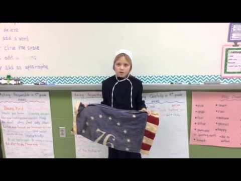 Taylor's wax museum project on Betsy Ross.