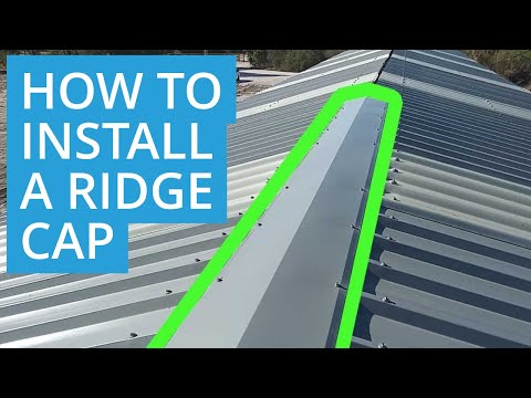 How to Turn-up (Weather) Trimdek Sheeting and Install Ridge Caps - D.I.Y Roys Sheds