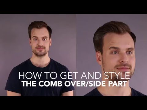 How to Cut and Style: The Comb Over/Side Part