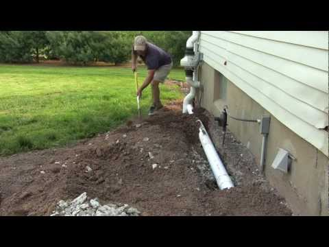 Basement Insulation - How To Install Drainage Pipe - DIY