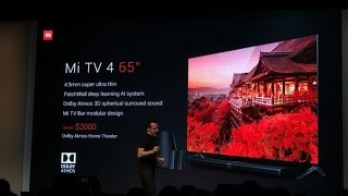 Xiaomi Mi TV 4 With 4.9mm Thickness, Mi Router HD With 8TB Storage Launched at CES 2017