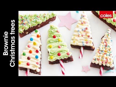 How to make brownie Christmas trees