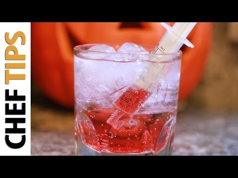 Bloody Shirley Temple Recipe - Halloween Drink Recipes
