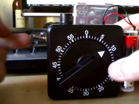 Analogue Timer Switch -  using an old egg timer