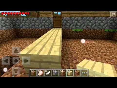 Minecraft pe episode 2 making house floors