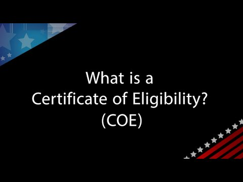 VA Q&A with Andrew Paul: What is a Certificate of Eligibility (COE)?