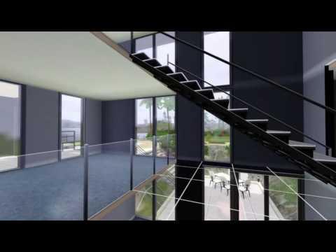 Sims 3 - house design: modern beach house no.1