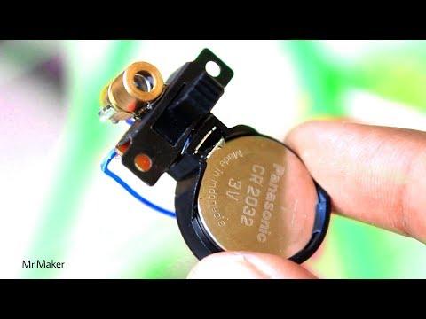 How to make laser light security alarm - DIY