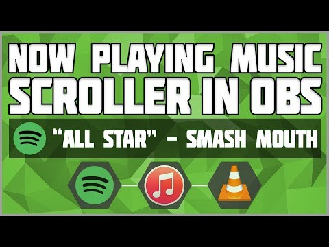 OBS Now Playing Music Scroller - Spotify VLC iTunes! Scrolling music text OBS! OBS playing now text
