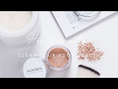 How to correctly clean your Adorn brushes