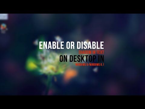Enable or Disable Shadow in Text on Desktop in Windows 8/Windows 8.1