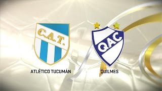 Fútbol en vivo. Atlético Tucumán vs. Quilmes. Fecha 13. Torneo de Primera División 2016/2017. FPT