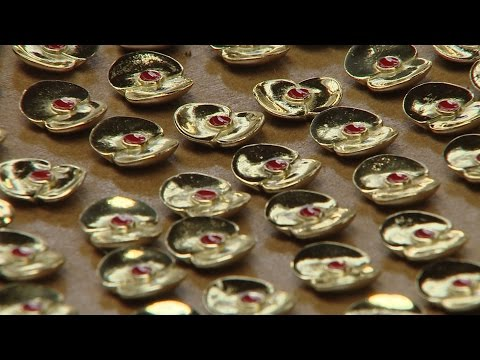 WW1 Shell Poppy Pins Remember Somme Fallen