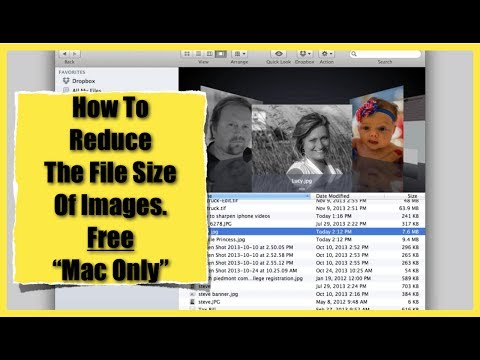 How To Reduce Image File Size On A Mac ~ Free